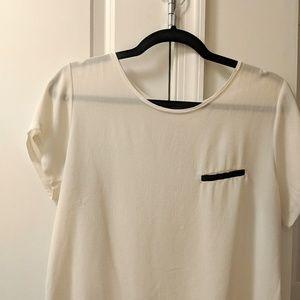 Zara - White / Black Shirt